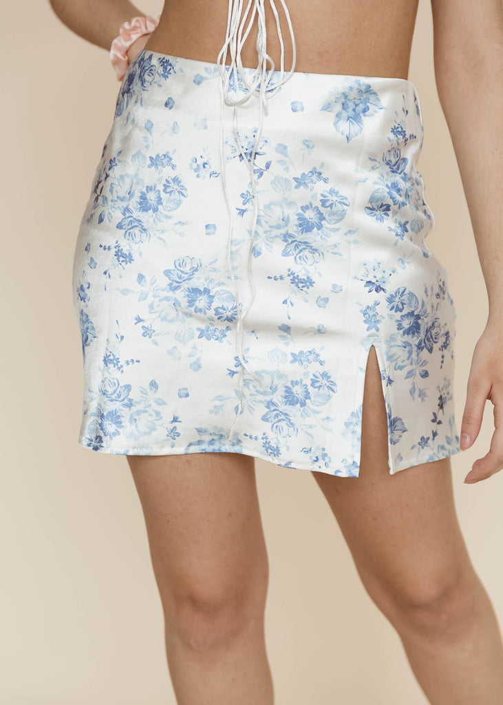 Sky Poppies Mini Skirt