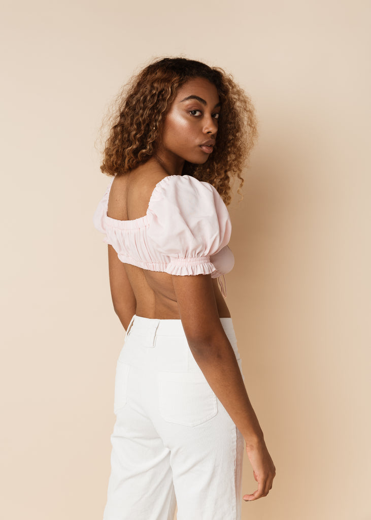 Butterfly Tie Crop Top | Pink