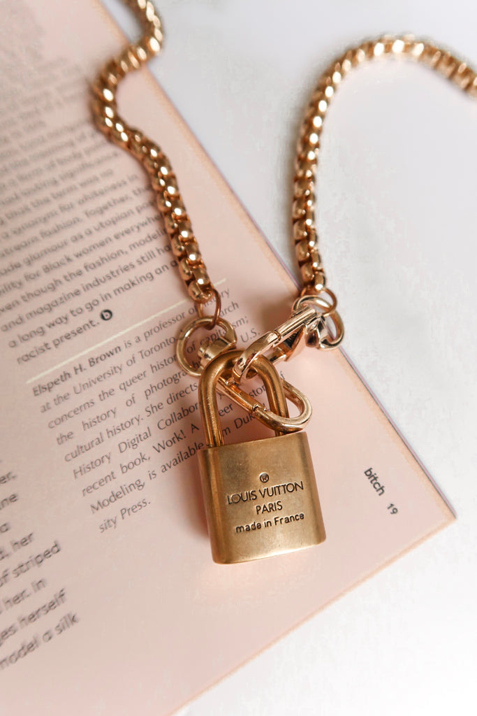 Reworked Louis Vuitton Padlock Necklace