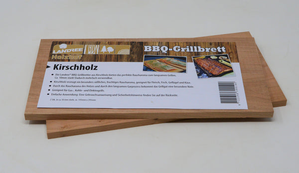 Kirsche BBQ Grillbrett Räucherbrett Planks Set 2Stk  Landree®