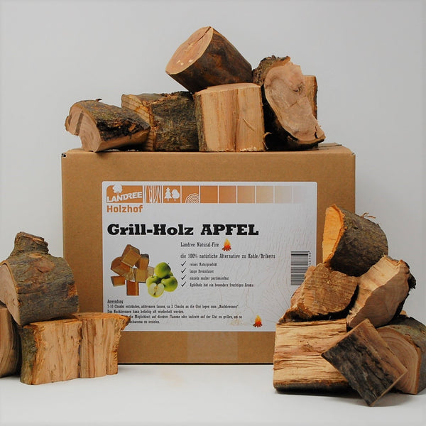 Apfel Grill-Holz 3,5KG – Wood Chunks Natural-Fire