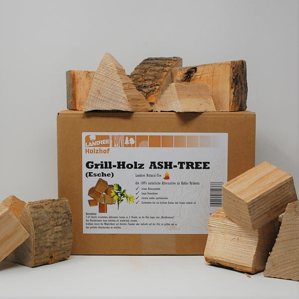Ash-Tree Grill-Holz 3,5KG Wood Chunks - die natürliche Alternative zu Briketts -