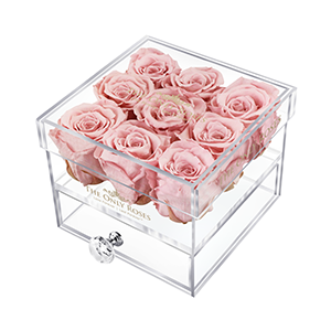 Small Acrylic Rose Box