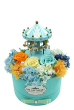 Load image into Gallery viewer, Merry-go-round Music Light Blue Preserved Rose Arrangement - The Only Roses