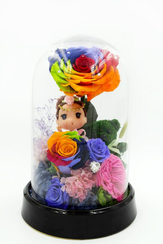 Secret Garden Roses Glass Dome - The Only Roses