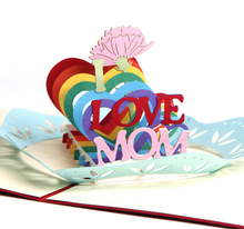 Load image into Gallery viewer, Mother's Day I LOVE MOM | 3D Card - The Only Roses