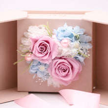 Load image into Gallery viewer, Pink Preserved Rose Arrangement Design | Swing Opening Box - The Only Roses