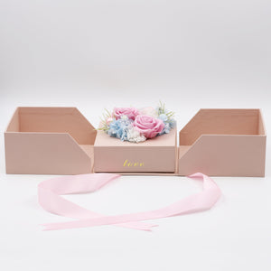 Pink Preserved Rose Arrangement Design | Swing Opening Box - The Only Roses