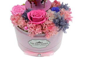Merry-go-round Music Pink Preserved Rose Arrangement - The Only Roses