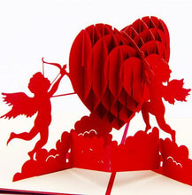Load image into Gallery viewer, Cupid Heart | 3D Card - The Only Roses