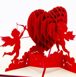 Cupid Heart | 3D Card - The Only Roses