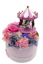 Load image into Gallery viewer, Merry-go-round Music Pink Preserved Rose Arrangement - The Only Roses