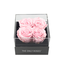 Load image into Gallery viewer, Light Pink Preserved Roses | Small Square Classic Grey Box - The Only Roses