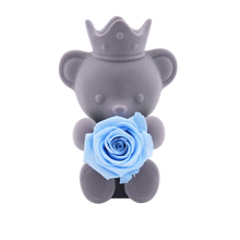 Load image into Gallery viewer, Blue Preserved Rose | Teddy Rose Bear - The Only Roses