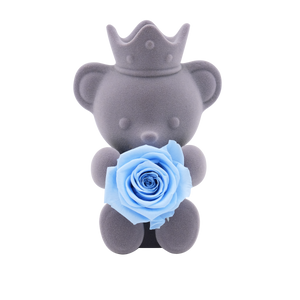 Blue Preserved Rose | Teddy Rose Bear - The Only Roses