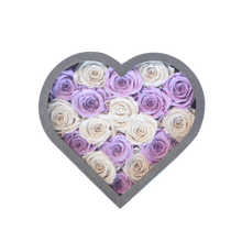 Load image into Gallery viewer, White & Light Purple Preserved Roses Mix