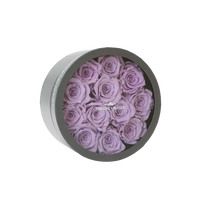 Load image into Gallery viewer, Light Purple Preserved Roses | Small Round Classic Grey Box