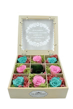 Load image into Gallery viewer, Deluxe White Hardwood Shadow Box Roses Arrangement - The Only Roses