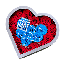 Load image into Gallery viewer, JUST FOR YOUR FOUNDATION | Heart of Haiti Gala Invitation Gift | MEDIUM HEART CLASSIC GREY BOX