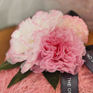 Preserved Real Carnations | Pink Heart Design - The Only Roses