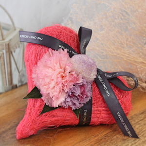 Preserved Real Carnations | Hot Pink Heart Design - The Only Roses