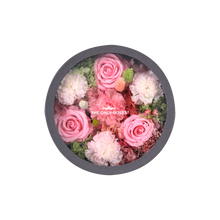 Load image into Gallery viewer, Preserved Real Carnations | Small Round Classic Grey Box