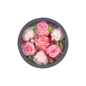 Preserved Real Carnations | Small Round Classic Grey Box