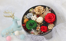 Load image into Gallery viewer, Christmas Edition | SMALL ROUND CLASSIC GREY BOX - The Only Roses