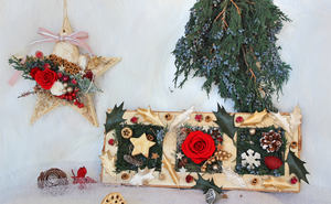 Star Christmas Tree Hanging Ornament with Preserved Roses - The Only Roses