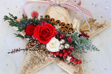 Load image into Gallery viewer, Star Christmas Tree Hanging Ornament with Preserved Roses - The Only Roses