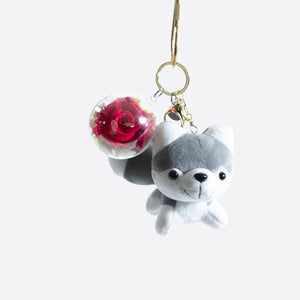 Plush Dog Toy Keychain