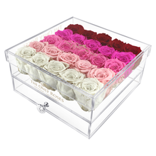 Load image into Gallery viewer, Fade Pink Preserved Roses | Large Acrylic Rose Box