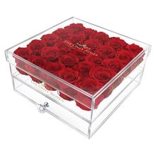Load image into Gallery viewer, Red Preserved Roses | Large Acrylic Rose Box