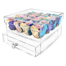 Load image into Gallery viewer, Candy Rainbow Color Preserved Rose | Medium Acrylic Rose Box