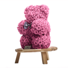 Load image into Gallery viewer, 15 Inches Tall Giant Pink Preserved Rose Bear - The Only Roses