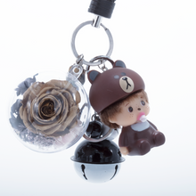 Load image into Gallery viewer, Gold Preserved Rose | Cartoon Character Keychain - The Only Roses