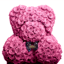Load image into Gallery viewer, 35 Inches Tall Giant Pink Preserved Rose Bear