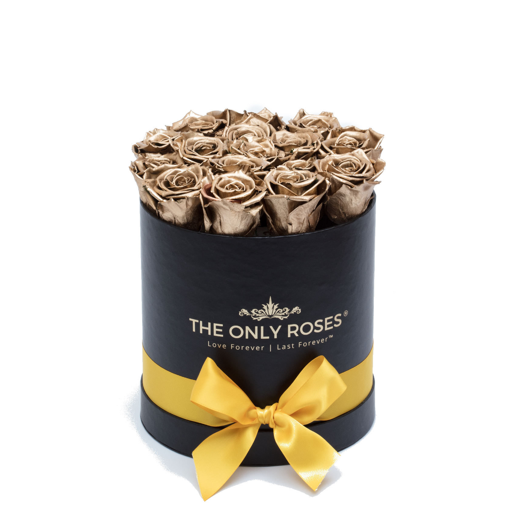 Rose Last One Year Gold Preserved Roses Small Round