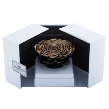 Load image into Gallery viewer, Gold Mega Preserved Rose | Swing Opening Box - The Only Roses