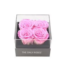 Load image into Gallery viewer, Pink Preserved Roses | Small Square Classic Grey Box - The Only Roses