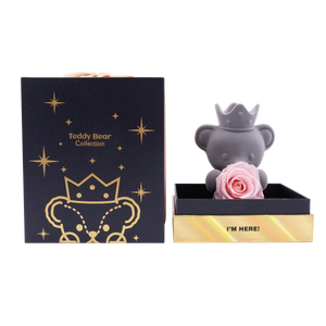 Pink Preserved Rose | Teddy Rose Bear - The Only Roses
