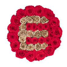 "Load image into Gallery viewer, Gold Letter "" E "" Preserved Roses 
