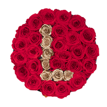 "Load image into Gallery viewer, Gold Letter "" L "" Preserved Roses 