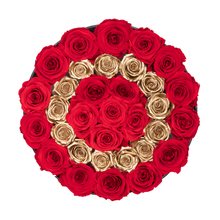 "Load image into Gallery viewer, Gold Letter "" O "" Preserved Roses 