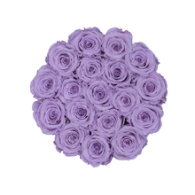 Load image into Gallery viewer, Light Purple Preserved Roses | Small Round White Huggy Rose Box - The Only Roses