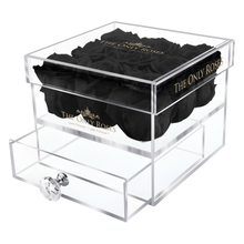 Load image into Gallery viewer, Black Preserved Roses | Small Acrylic Rose Box