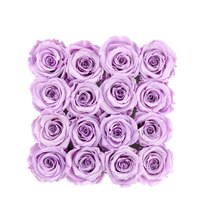 Load image into Gallery viewer, Light Purple Preserved Roses | Square White Huggy Rose Box - The Only Roses