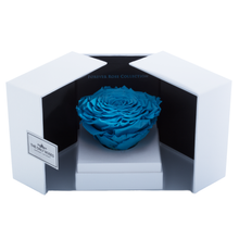 Load image into Gallery viewer, Blue Mega Preserved Rose | Swing Opening Box - The Only Roses