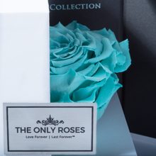 Load image into Gallery viewer, Tiffany Blue Mega Preserved Rose | Swing Opening Box - The Only Roses