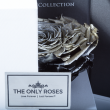 Load image into Gallery viewer, Silver Mega Preserved Rose | Swing Opening Box - The Only Roses